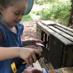 Outdoor Pre-School - Using a hammer
