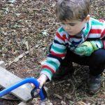 Outdoor Pre-School - Sawing