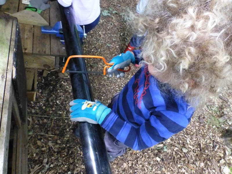 Forest School - Sawing