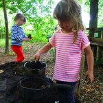 Outdoor Pre-School - Playing